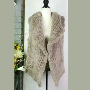 Soft Surroundings Faux Fur Vest Sz Large